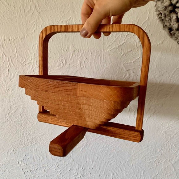 Vintage Collapsable Wood Basket